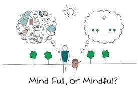dispersión mental o mente atenta