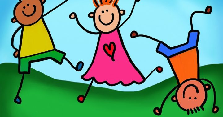 dibujo de niños sonriendo