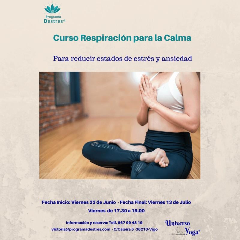 Curso Respiración para la Calma -Inicio 22 de Junio