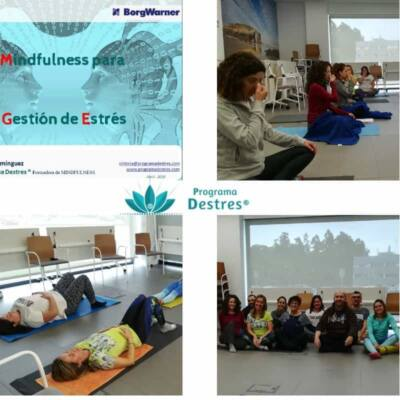 Grupo BorgWarner en el curso de mindfulness