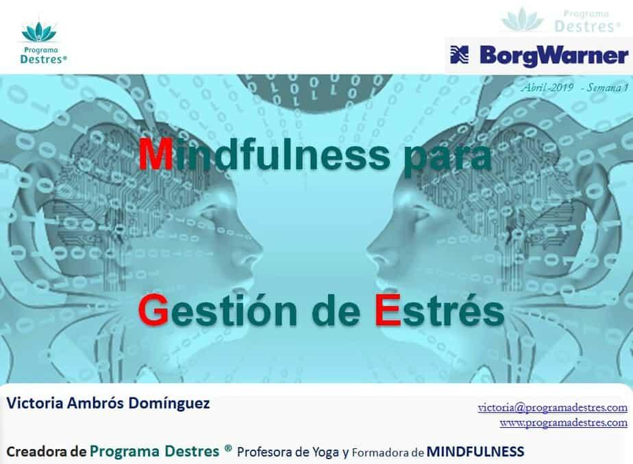 Curso Mindfulness para gestión estrés