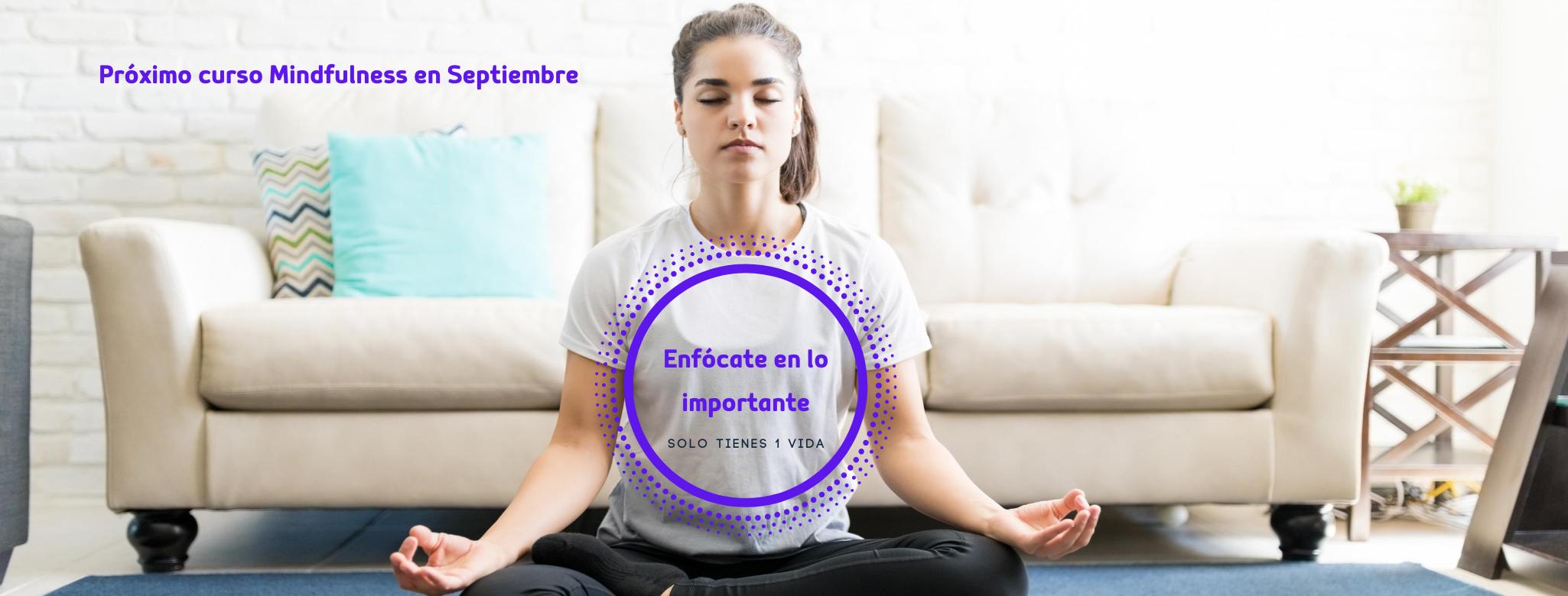 Curso Mindfulness para reducción de estrés -Septiembre 2020